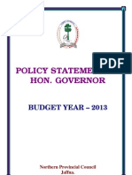 Policy Statement - Northern Provincial Council - 2013