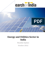 Energy and Utilities Sector in India Monthly Update October 2012