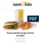 Food and Beverage Sector in India Monthly Update October 2012