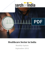 Healthcare Sector in India Monthly Update September 2012