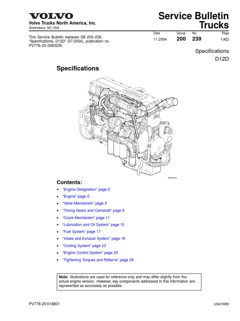 Volvo Truck Engine Diagram