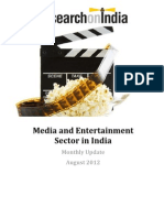 Media and Entertainment in India Monthly Update August 2012