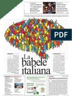 La Babele Italiana, Le Mille Lingue Del Belpaese - La Repubblica 01.02.2013