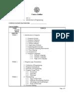 ITC25 (Intro to Programming)Outline