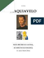 Benítez Rubio, Fco. Javier - Politeia - Maquiavelo