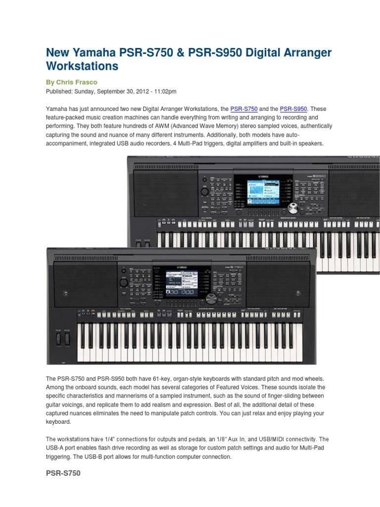Yamaha PSR S950 | Synthesizer | Singing