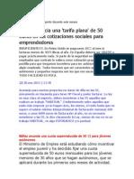 bañez anuncia tarifa plana 50e