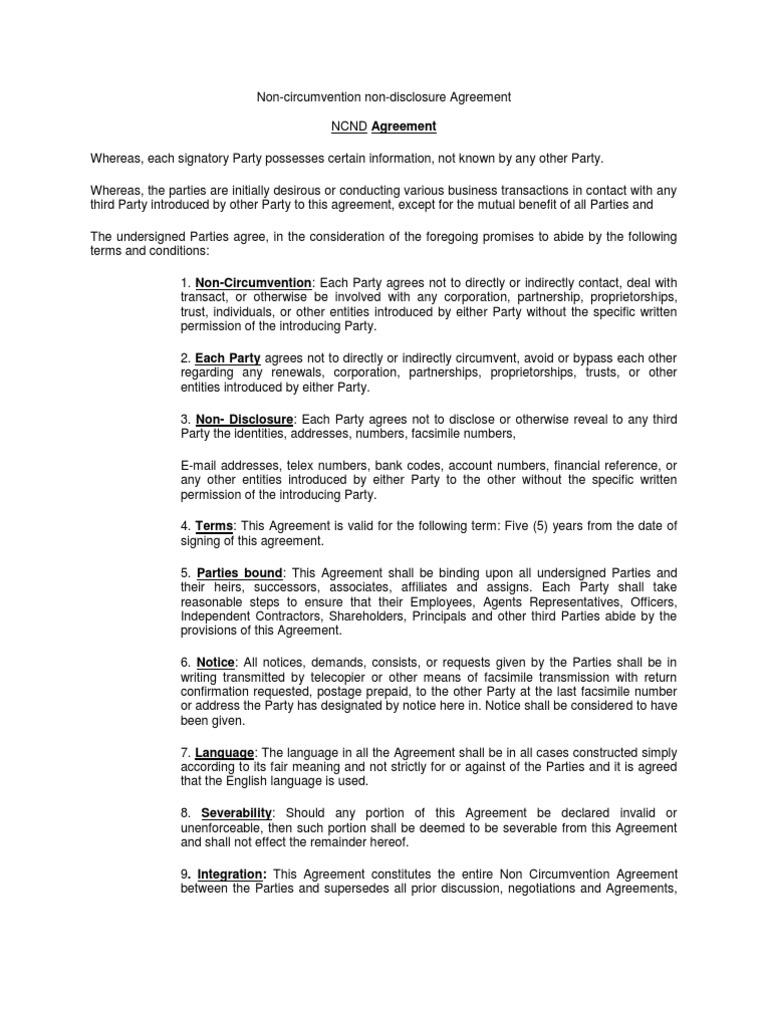 Nda Non Disclosure Agreement Arbitration