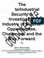The Private/Industrial Security & Investigation Industry in Nigeria
