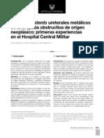 Empleo de stents ureterales metálicos en la uropatía obstructiva de origen neoplásico