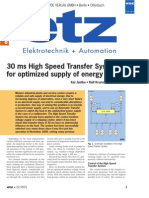 30 ms High Speed Transfer System for optimized supply of energy
