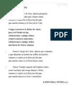 Letras de Canciones Para El Tiempo Ordinario