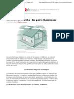 Comment ça marche _ les ponts thermiques - Règles et normes - LeMoniteur.fr