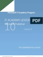 MELJUN CORTES Microsoft Office 2010 Publisher - Lesson 3