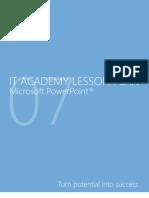 MELJUN CORTES Microsoft PowerPoint 2007 Lesson Plan