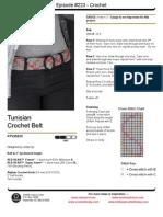 Tunisian Crochet Belt