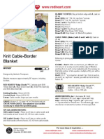 Knit Cable-Border Blanket