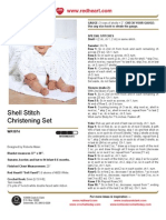 Shell Stitch Christening Set