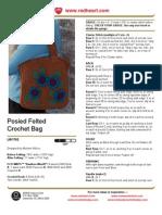 Posied Felted Crochet Bag