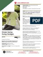 Simple Spring Swing Cardigan