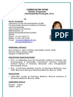 CV Natalia Sergeenko