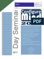 Catalog for Seminar- Configure Mind 2013