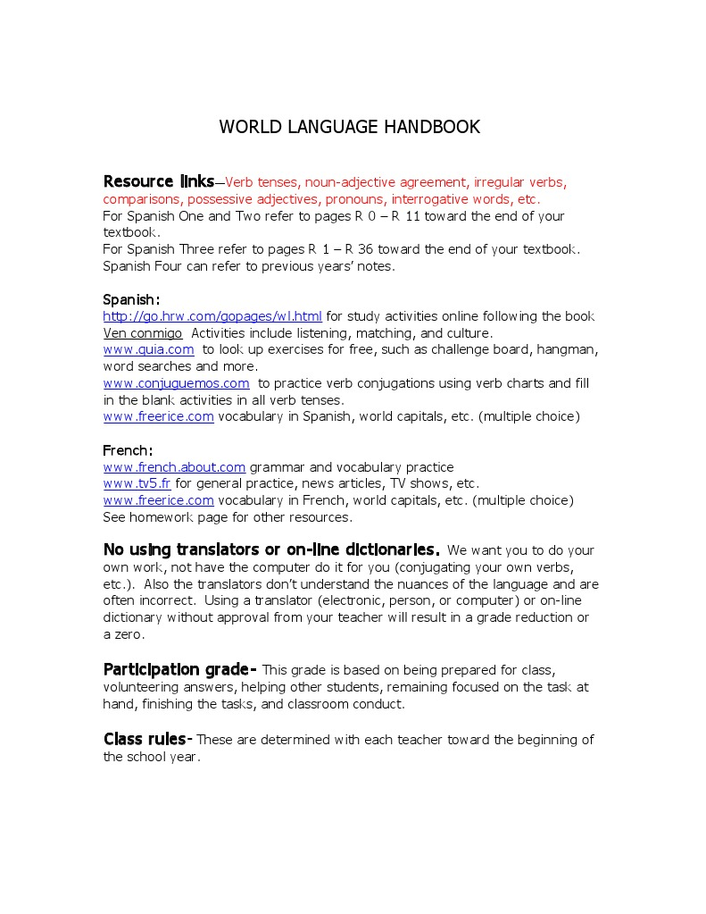 all the verbs in the world