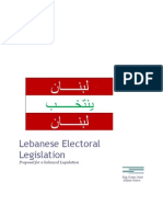 The Rayan Jreije Proposal for new Lebanese Electoral Law