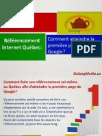 Référencement Internet Québec
