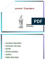 Conduct Disorders
