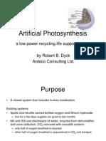 artificial photosynthesis.