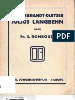 Sigebertus Rombouts - De Rembrandt-Duitser Julius Langbehn