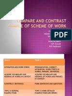 compare & contrast scheme of work