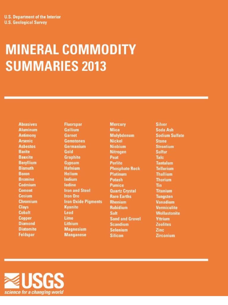 151 Quantum Rare Earth Developments Corp Reports Significant Update To Resource Estimate At The Elk Creek Niobium Deposit Nebraska >> Mineral Commodity Summaries 2013 By Usgs Mining Aluminium