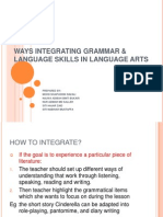 INTEGRATE GRAMMAR IN LANGUAGE SKILLS