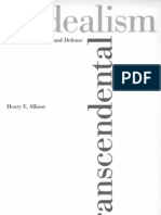 Allison, h. Kant's Transcendental Idealism an Interpretation and Defense