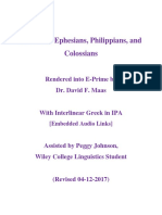 Galatians, Ephesians, Philippians, and Colossians in E-Prime with Interlinear Greek in IPA (02-01-2013)