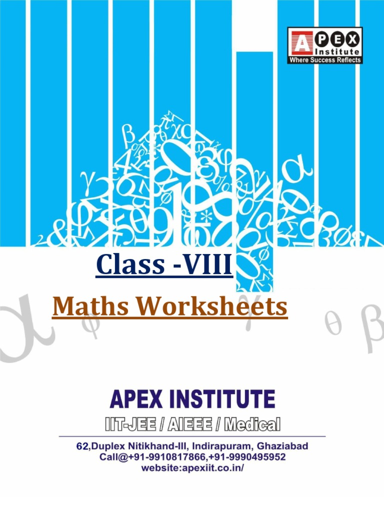Class VIII_Maths-Worksheets | Rectangle | Triangle