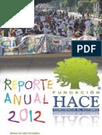 Reporte Anual 2012 Fundación HACE