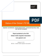 GSA Status of the Global LTE1800 Market 080113