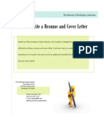 how to write resume and cover letter