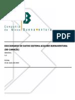 Diccionario de Datos Canales