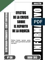 Boletin 138 - Efectos Crisis Sobre El Reparto