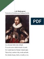 William Shakespeare Sonnet XXXVII