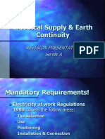 Electrical Supply Earth Continuity Series A