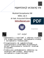Budowa organizacji uczącej się MSM slajdy