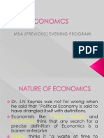 Economics First Lecture
