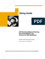 sizing guide for the planning software 10