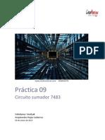 Práctica 09 Sumador 7483