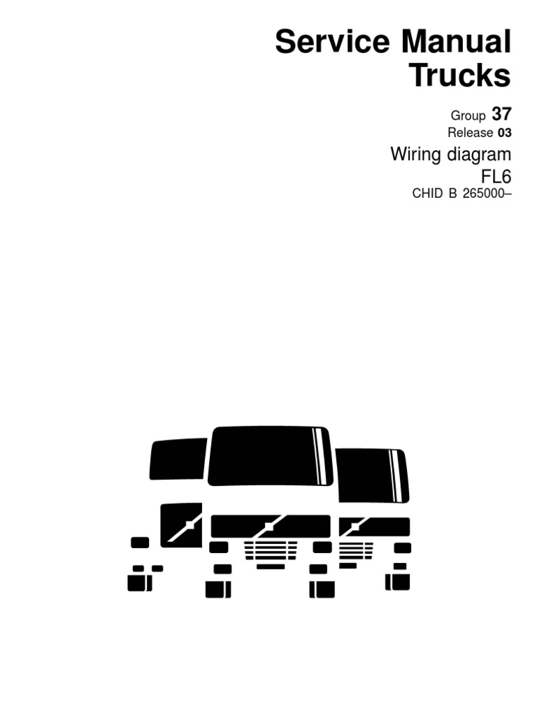 volvo wiring diagram fl6 pdf cable electrical connector rh es scribd com Volvo Semi Truck Wiring Diagram Volvo 240 Fuse Diagram